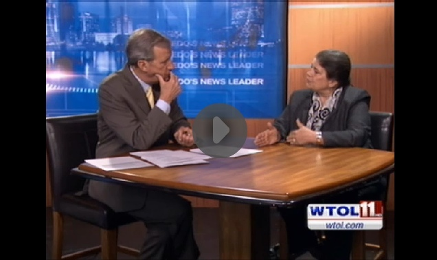 Integrated marketing and social media strategist Allen Mireles with Jerry Anderson of WTOL