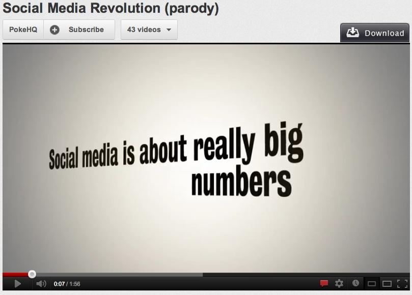 image of social media revolution parody