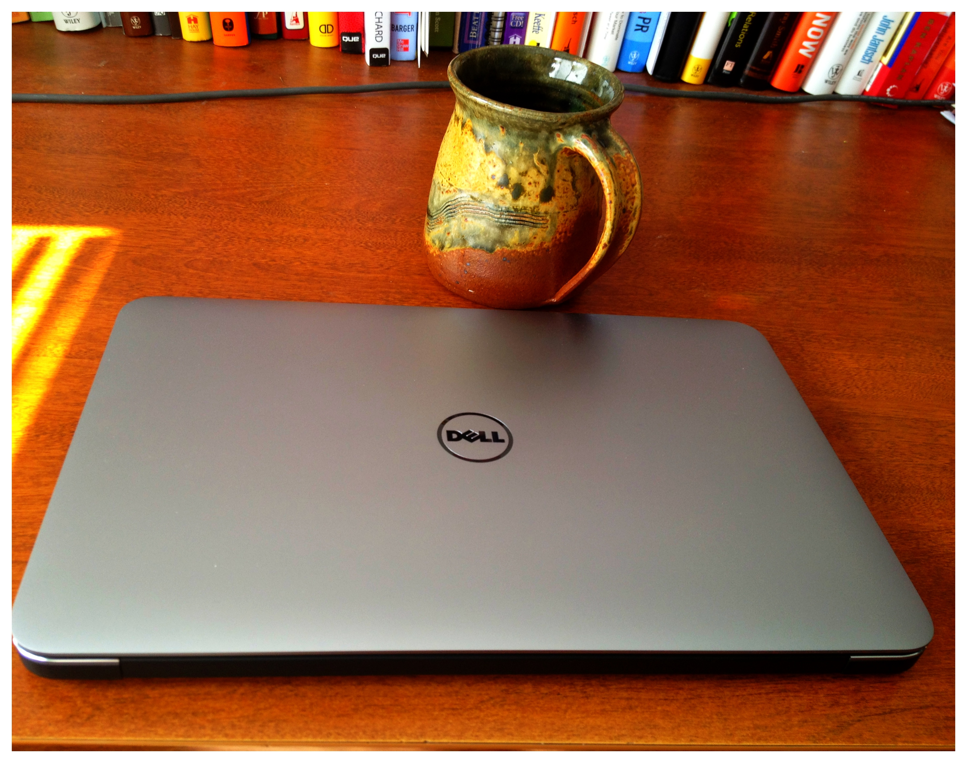 image of Dell XPS 13 on desktop