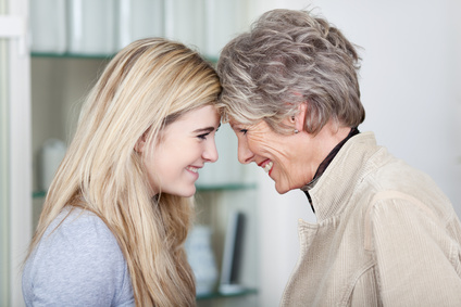 image of young woman and older woman