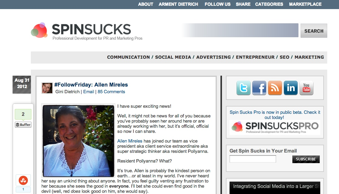 IMage of Spin Sucks Blog Banner