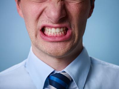 image of angry man shouting. Close up.